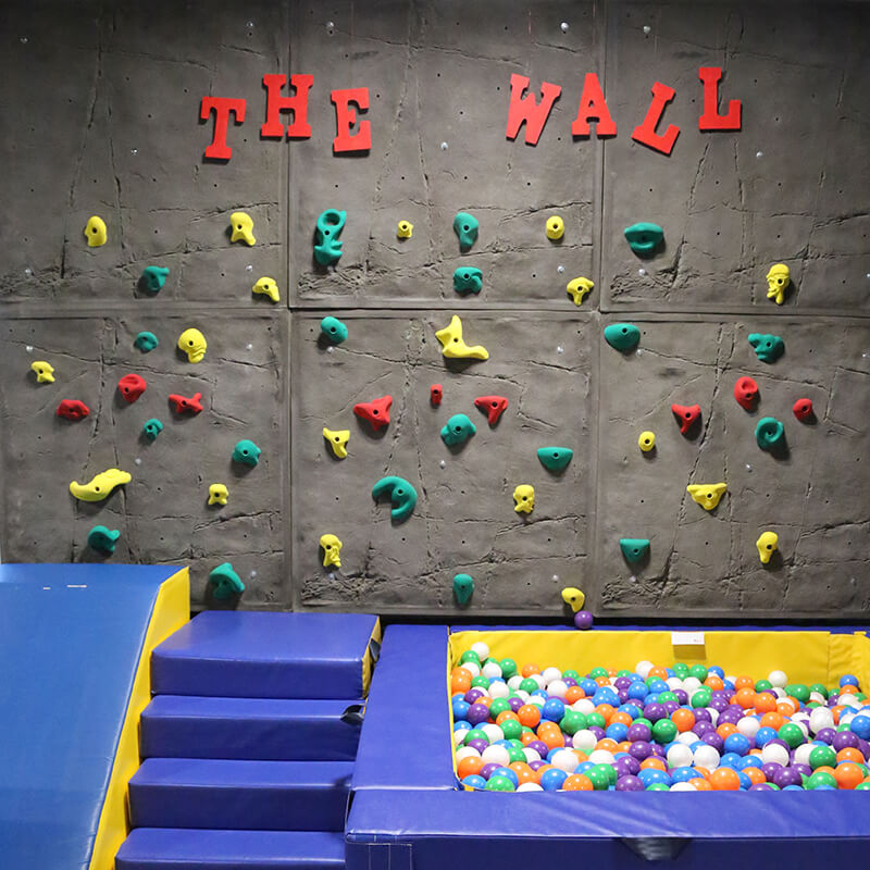 pediatric building and rock climbing wall